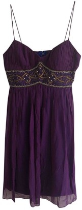 Aidan Mattox Purple Silk Dress for Women