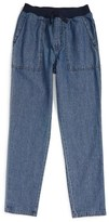 Tea Collection Girl's Indigo Dyed Canvas Pants