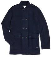 Burberry 'Mandy' Wool Peacoat (Little Girls & Big Girls)