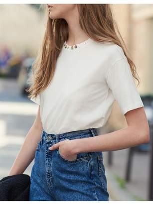 Sandro T-Shirt With Studs On The Collar