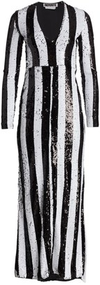 Rotate by Birger Christensen Hillary Stripe Gown
