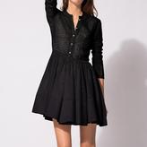 Maje Lace puffball dress with braid trim