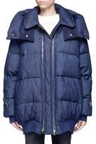 Stella McCartney Denim puffer coat