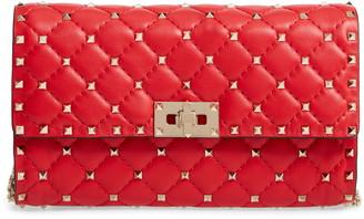 Valentino Garavani Rockstud Matelasse Quilted Leather Crossbody Bag