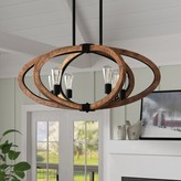Laurèl Orly 6-Light Candle Style Globe Chandelier Foundry Modern Farmhouse