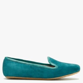 Graceful Shoes Gaby Green Suede Ballet Flats