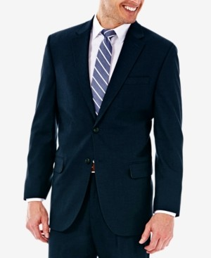 Haggar J.m. Men's Classic/Regular Fit Stretch Sharkskin Suit Jacket