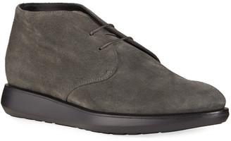 Giorgio Armani Men's Suede Chukka Sneakers