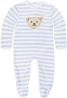 Steiff Boy's Strampler 1/1 Arm Onesie Blue Baby Blue Blue 3023 6-9 Months (Size: 9 Mois)