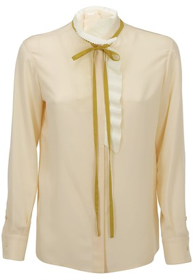 Chloé Neck Tie Sheer Blouse