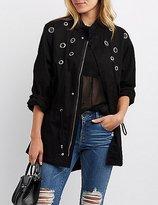 Charlotte Russe Grommet-Detail Anorak Jacket