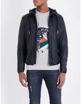 Diesel L-melvins Hooded Leather Jacket