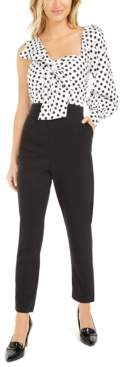 Bar III Becca Tilley x One-Shoulder Twist-Front Jumpsuit, Created for Macy's