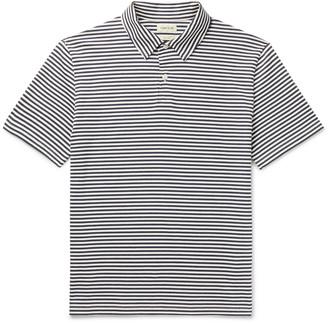 De Bonne Facture - Camp-Collar Striped Cotton-Jersey Polo Shirt - Men