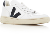 Veja V10 Extra White And Black Leather Sneakers