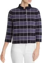 Emporio Armani Cropped Check-Print Jacket