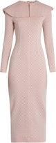 Emilia Wickstead Jacqueline honeycomb-jaquard wool dress