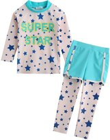 Vaenait Baby 2T-7T Kids Girls UPF 50+ Rashguard Swimsuit Set M