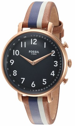 Fossil Women's Stainless Steel Hybrid Watch with Leather Strap