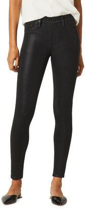 Hudson Barbara High-Rise Coated Skinny Ankle Jeans