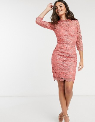 Paper Dolls crochet lace dress in pink