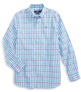 Vineyard Vines Boy's Crystal Reef Check Whale Shirt
