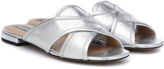 Marc Jacobs Aurora metallic leather sandals