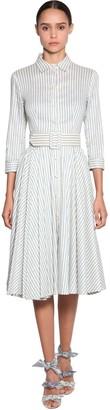 Luisa Beccaria Striped Linen Shirt Dress