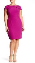Adrianna Papell Cap Sleeve Sheath Dress (Plus Size)