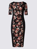 Marks and Spencer Floral Print Bodycon Dress
