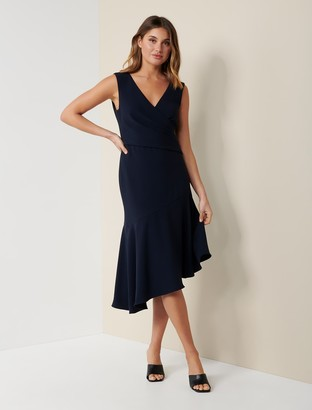 Forever New Cynthia Draped Dress - Navy - 4