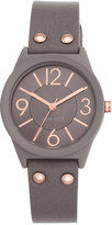 Nine West Women's Taupe Imitation Leather Strap Watch 36mm NW-1932TPRG