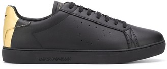 Emporio Armani Low-Top Leather Sneakers
