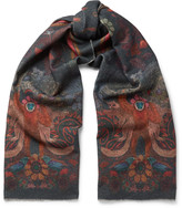 Paul Smith - Monkey-print Wool And Cashmere-blend Scarf