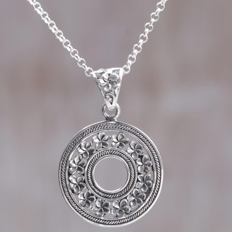 Novica Handcrafted Sterling Silver 'Jepun Coin' Necklace