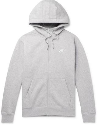 Nike Melange Fleece-Back Cotton-Blend Jersey Zip-Up Hoodie