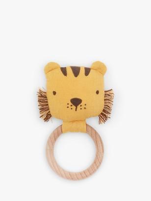 Albetta Tiger Muslin Ring Rattle