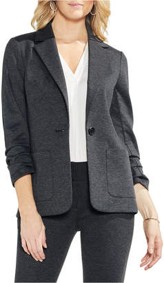 Vince Camuto Petite Ruched-Sleeve Ponte-Knit Blazer