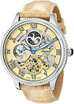 """Ingersoll Men's IN2713CR """"Ulzana"""" Stainless Steel Automatic Watch with Beige Leather Band"""