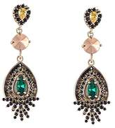 Iosselliani Collet with Zircons Art Deco Drop Earrings