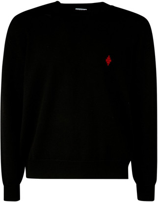 Marcelo Burlon County of Milan Rural Cross Knit Boxy Crewneck Sweater