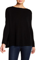 Sofia Cashmere Slash Neck Cashmere Sweater