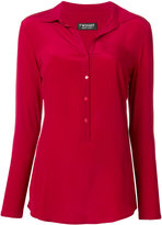 Twin-Set button up shirt - women - Silk/Cotton/Mother of Pearl - XXS