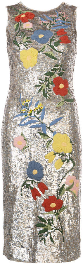 Alice + Olivia Alice+Olivia sequin embellished midi dress