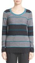 St. John Stripe Wool Blend Sweater
