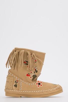 Alberta Ferretti Embroidered Fringed Boots