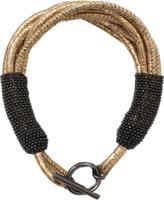 Brunello Cucinelli Leather Multi Strand Monili Bracelet