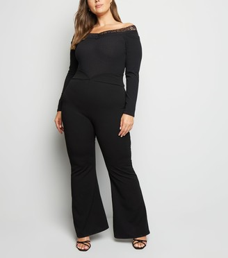 New Look Just Curvy High Waist Flared Trousers