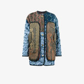Peter Pilotto oversized patchwork quilted satin jacket