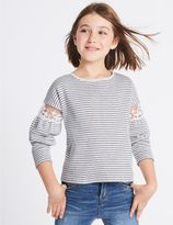 Marks and Spencer Cotton Rich Striped Sweatshirt (3-14 Years)